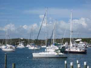 Sylestial Star at rest in Hopetown Harbour