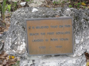 Plaque marking the