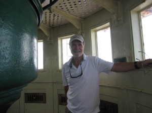 On top of the Hopetown Lighthouse