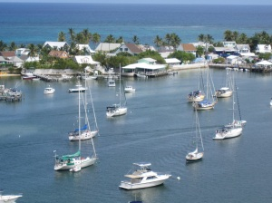 Another view of Hopetown Harbour from the Lighthouse - Can you spot Sylestial Star?