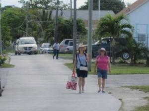 Sylvia and Bejay returning from a provisioning run